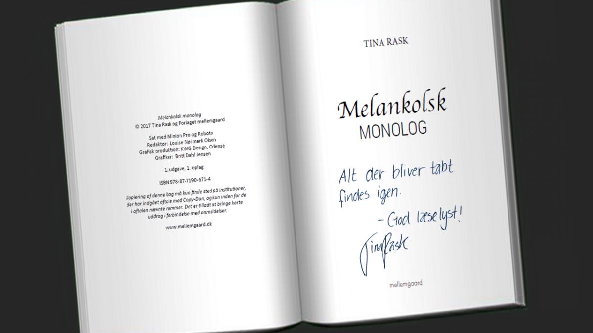 Signeret Melankolsk Monolog