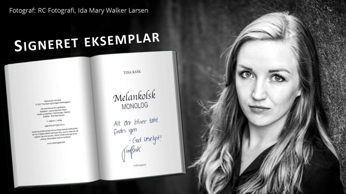 Signeret eksemplar af Melankolsk Monolog
