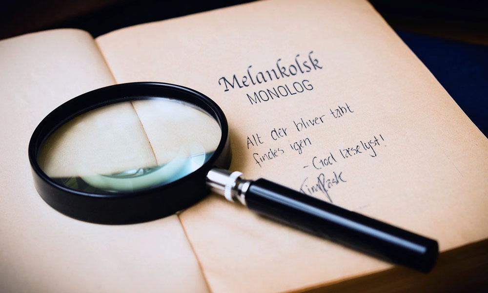 Signeret digtsamling - Melankolsk Monolog